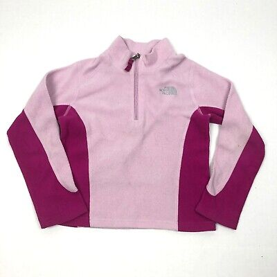 Girls The NORTH FACE Fleece Pullover Jacket Pink  XSmall (6) PLAY Condition