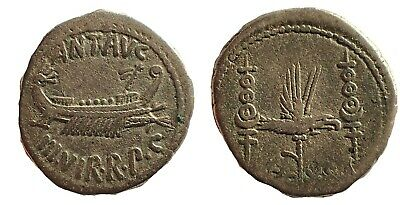 The Triumvirs. Mark Antony. Autumn 32-spring 31 BC. AR Denarius