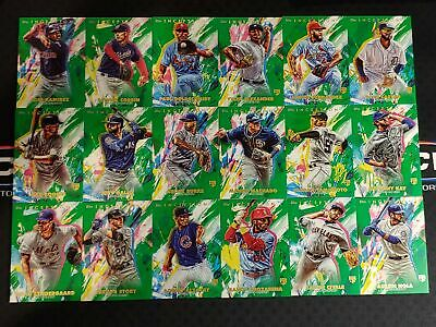 2020 Topps INCEPTION GREEN PARALLEL Lot of 18 Cards