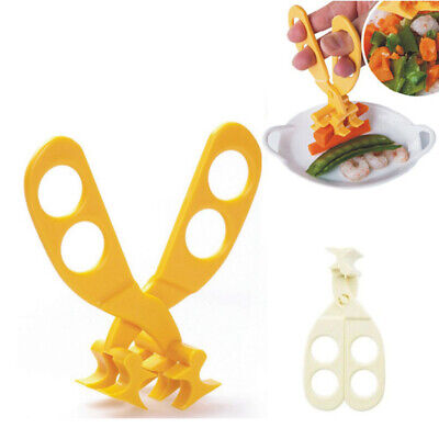 1X Safe Care Baby Kids Cut Food Shears Feeding Toddlers Scissors HOT