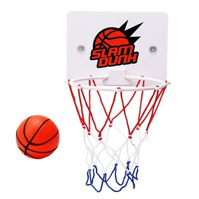 Children'S Outdoor Indoor Wall-Mounted Basketball Hoop Game Toys Slam Dunk A3H4