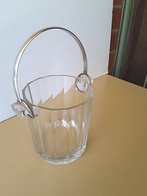 Vintage  Ice Bucket With SilverPLATE Handle