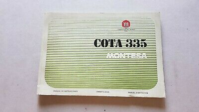 Montesa Cota 335 manuale uso con catalogo ricambi originale owner's+parts manual