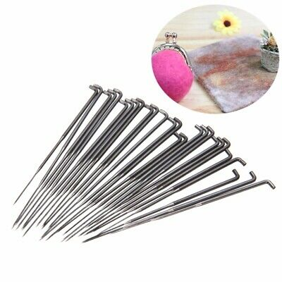 AU/30Pcs 3 Sizes Wool Felting Needles Holder Felt Tools Starter DIY Craft Kit