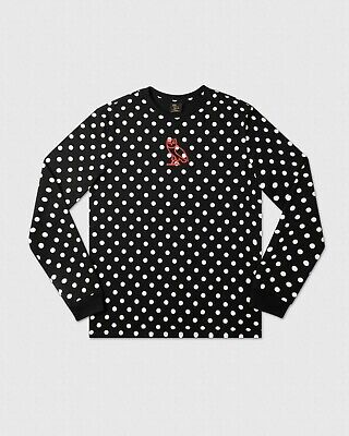 October's Very Own Classic Long Sleeve Polka Dot Small XL Black White OVO Drake