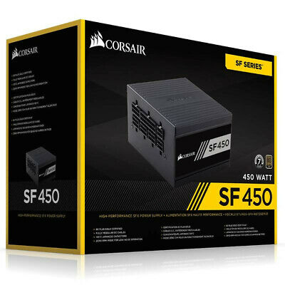 Corsair SF450 80 Plus Gold Modular SFX Power Supply 450W. New, unused
