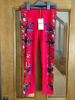 Girls BNWT Ted Baker Pink Leggings Age 11-12 Years