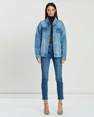 camilla and marc Ruth Denim Jacket in Mid Blue sz 12 Oversized