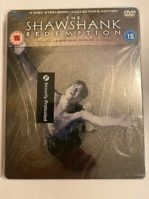 The Shawshank Redemption 4 Disc Collectors Edition Blu-Ray Steelbook New Sealed