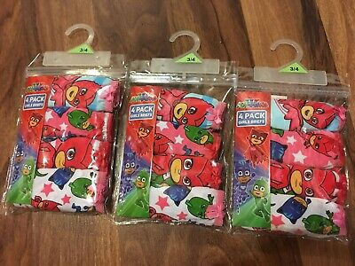 3 x PJ Mask 4 Pack Briefs / Undies - Girls Size 3-4
