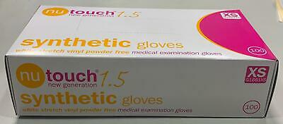 X SMALL Nutouch Synthet Vinyl Gloves - Medical Powder Free DisposableBox of 100