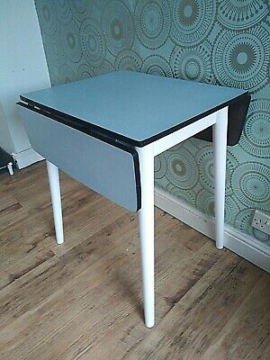 Delightful 1960s Mid-Century Formica Top Drop Leaf Kitchen/Dining Table