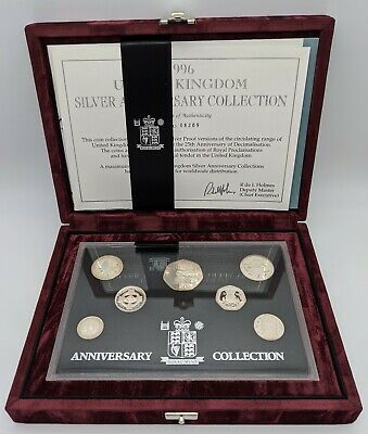 United Kingdom 1996 Royal Mint Silver Proof Anniversary Coin Collection