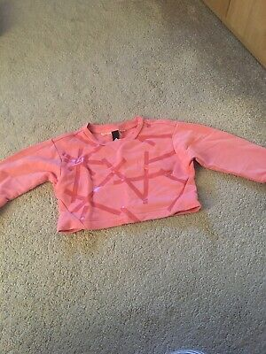 Girls Cropped Adidas Jumper Aged 5 To Aged 6