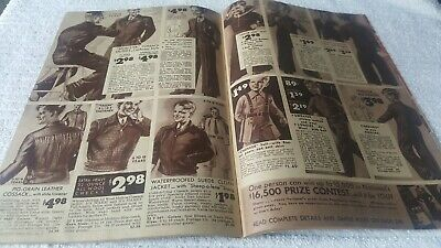 1930s clothing catalog NATIONAL BELLAS HESS 48 page SOFTBOUND color illustrated