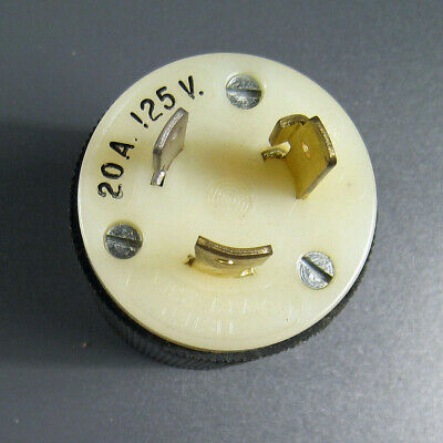 20A 125V Twist Lock PLUG 2 Pole 3 Wire Grounding Male - Hubbell 2311