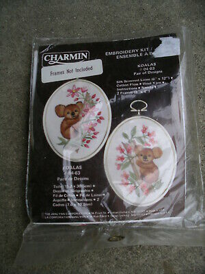 Charmin Koalas Kit 2 Embroidery Designs Directions In English And French