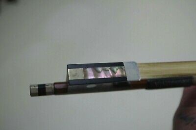 Antique Josef Richter Made in Germany Violin Bow Mother of Pearl Inlay& Nickel