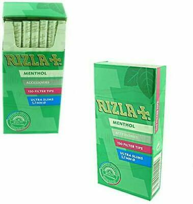5 x RIZLA MENTHOL ULTRA SLIM FILTER TIPS 5.7mm ROLL YOUR OWN CIGARETTE SEALED