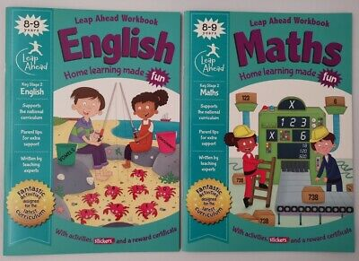 Leap Ahead English & Maths KS2 Ages 8-9 (Set of 2 Workbooks)