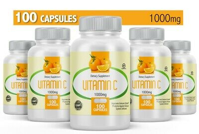 Vitamin C 1000 mg. 100 Capsules Caps Made in USA