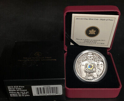 2013 $15 Fine Silver Coin Maple Of Peace Royal Canadian Mint Canada- Collector