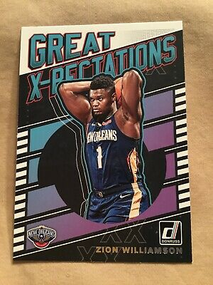 2019-20 Panini Donruss Great Expectations #7 Zion Williamson Rookie