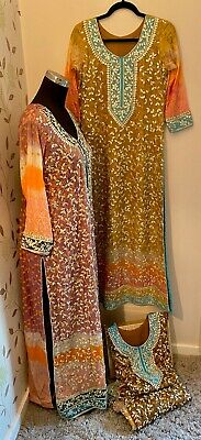Pakistani Fancy Formal/ Wedding/ Party Wear Long Shirt Gota Work