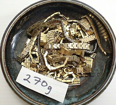 Lower Grade Gold Filled / Plate Scrap - 270g - For Gold Recovery