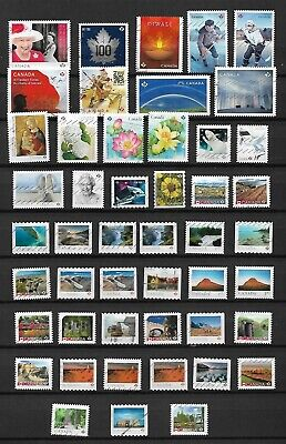 Used Canada Stamps - Assortment Of 48 Recent P Stamps