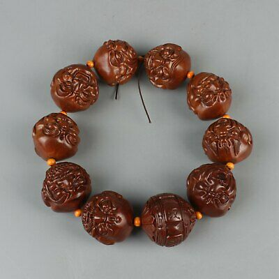 Chinese Exquisite Handmade Olive nuclear Luohan Bracelets