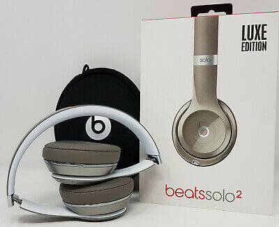 Beats by Dr. Dre Solo2 Wired On-Ear Luxe Edition Headphones -Silver (YT)BT212860