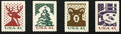 2007 Scott #4207-4210, 41¢, CHRISTMAS KNITS - Mint NH - Set of 4 Single Stamps