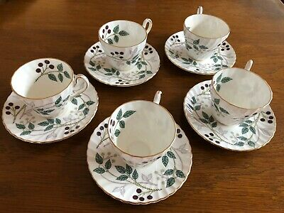 Vintage bone china coffee set 1950s Michaelmas design