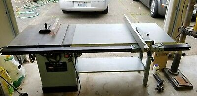 """Delta 1.5 HP 10"""" Tilting arbor Table saw Unisaw 34-801 Extended Rip Fence"""