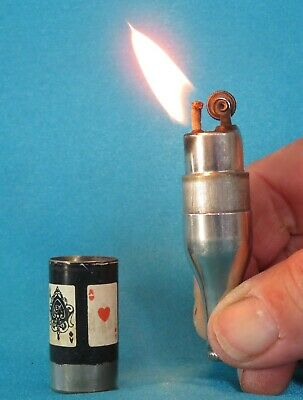 "Very Collectable Vintage American Made ""Four Aces"" Miniature Bottle Lighter."