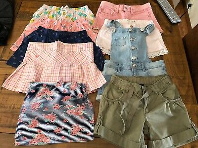 Girls Shorts Size 7 and skirts 9 pieces