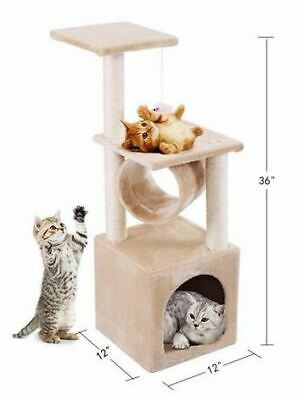 Condo Furniture Scratching Post Kitty Pet Play Toy Mouse Bed Soft Cat Tree Tower