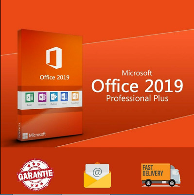 Microsoft office 2019 professional plus/official download & key - 32/64 bit