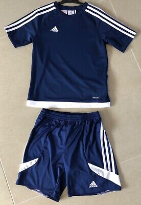 Boys/girls Adidas blue shorts and top sports set age 11-12, excellent condition