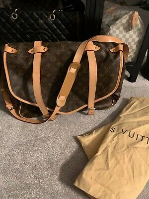 Authentic Louis Vuitton Saumur Bag Travel Tote Crossbody Monogram XL Carry On