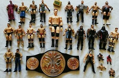 WWE Wrestling Figures Bundle Mattel Jakks Belt Elite Basic WWF Referee Rares etc