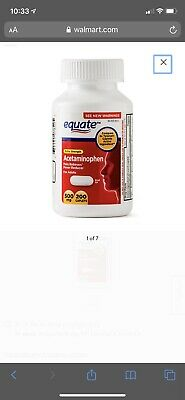 Equate Extra Strength Acetaminophen Pain Compare To Tylenol 500 mg 200 Caplet