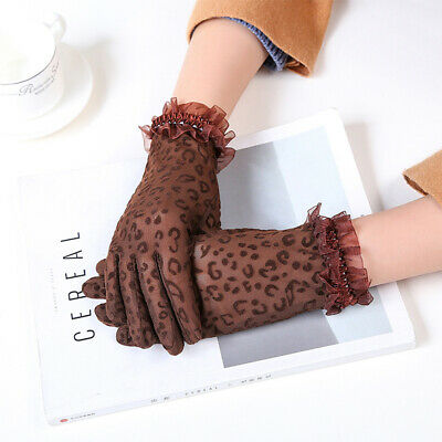 Lace Mittens Floral Side Women Gloves Lace Gloves Short Gloves Driving Gloves