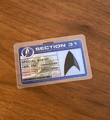 Star Trek Inspired Badge Discovery Section 31 SpecialAgent Prop Costume Cosplay