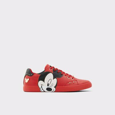 Disney X Aldo Cool-Mickey Mouse Sneakers Brand New in box RARE Size 10.5 Red