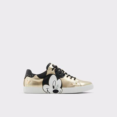 Disney X Aldo Cool-Mickey Mouse Sneakers New in box Size 10.5 Gold FREE SHIP