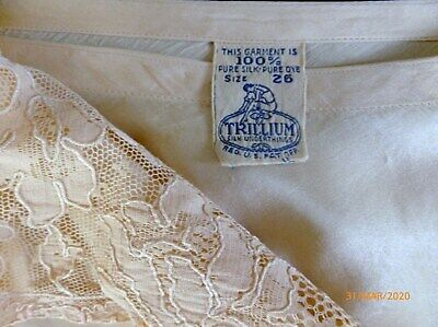 Vintage FLAPPER ERA 1920-1930 TRILLIUM SILK Tap PANTS Panties