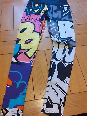 Girls Leggins. Size S. Comic Prints