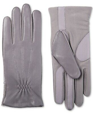 Isotoner Signature Women's Sleek Heat Leather Nylon SmartTouch Gloves